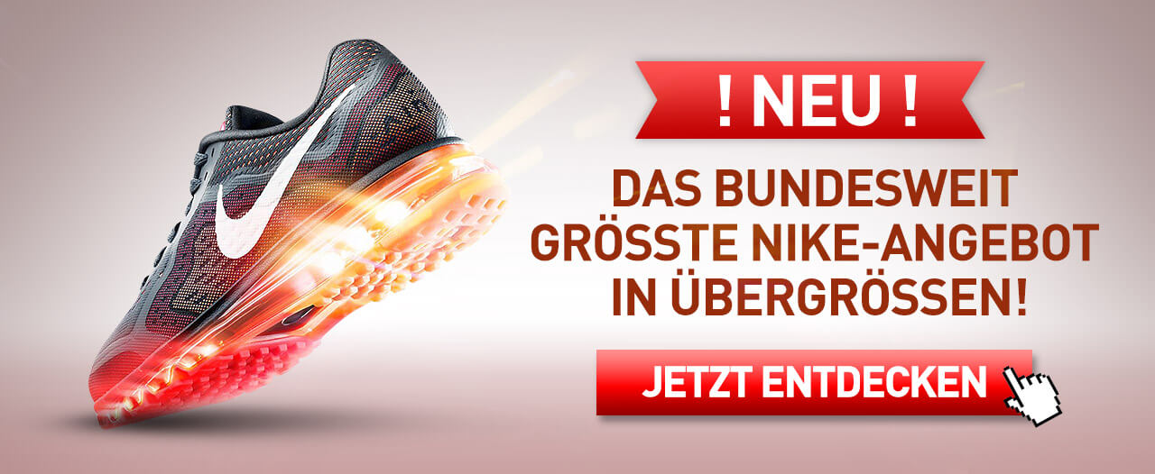 huge discount 7835e ce334 Nike Schuhe in Übergrößen